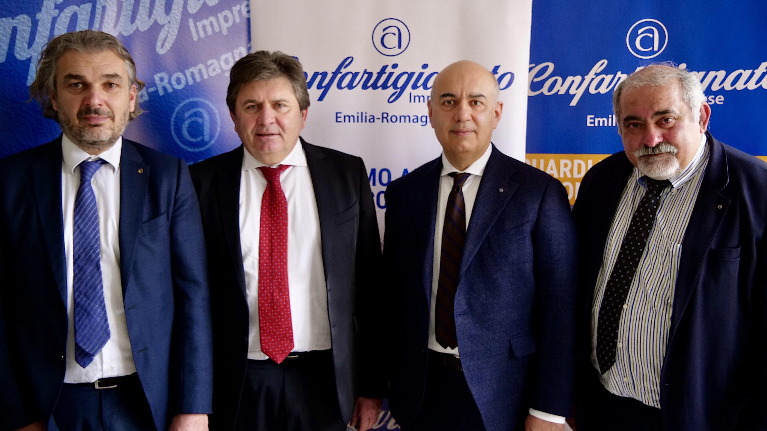 riunione presidenza confartigianato emilia romagna servadei morigi luppi renzi bologna federazione regionale