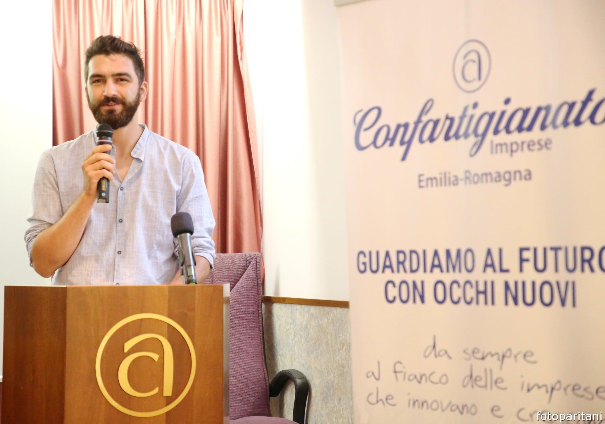 Lorenzo Bernardi presidente Gruppo Giovani Imprenditori Confartigianato Emilia Romagna assemblea Rimini 28 luglio 2021