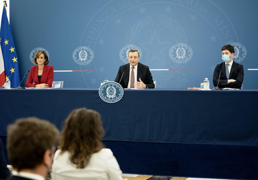 green pass conferenza stampa decreto legge 22 luglio 2021